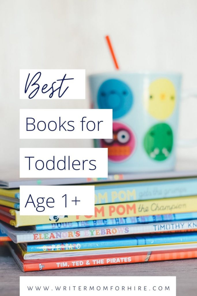 pinterest graphic that says best books for toddlers age 1 and beyond