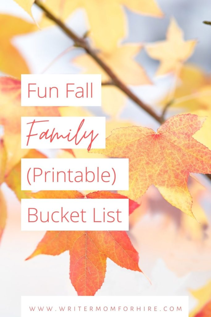 pin this image to share the fall bucket list printable with others