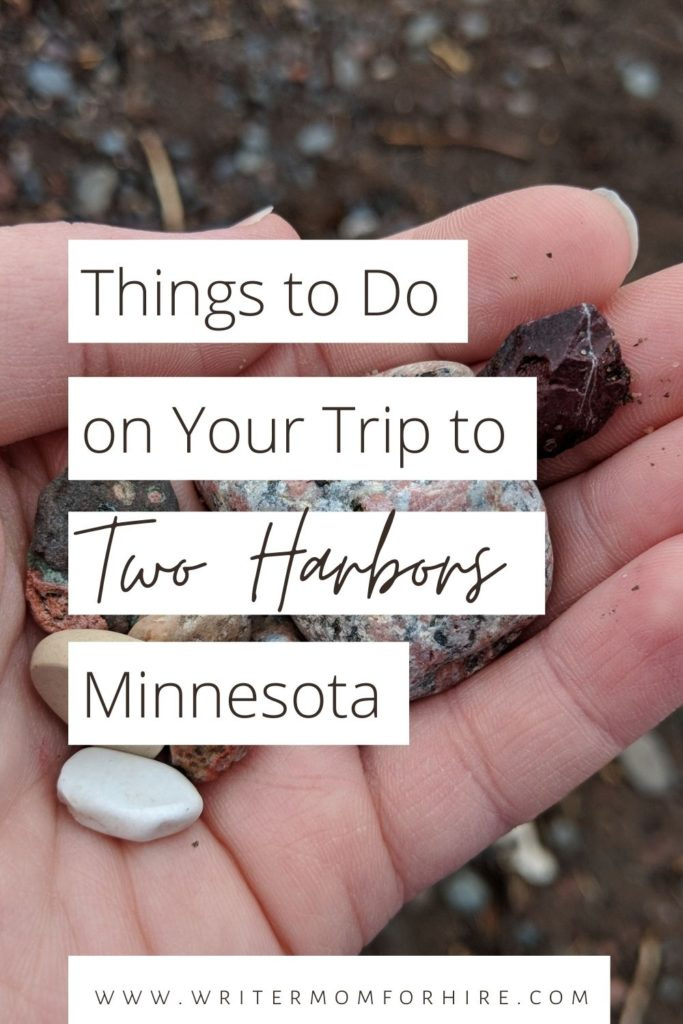 pinterest graphic that says two harbors mn things to do