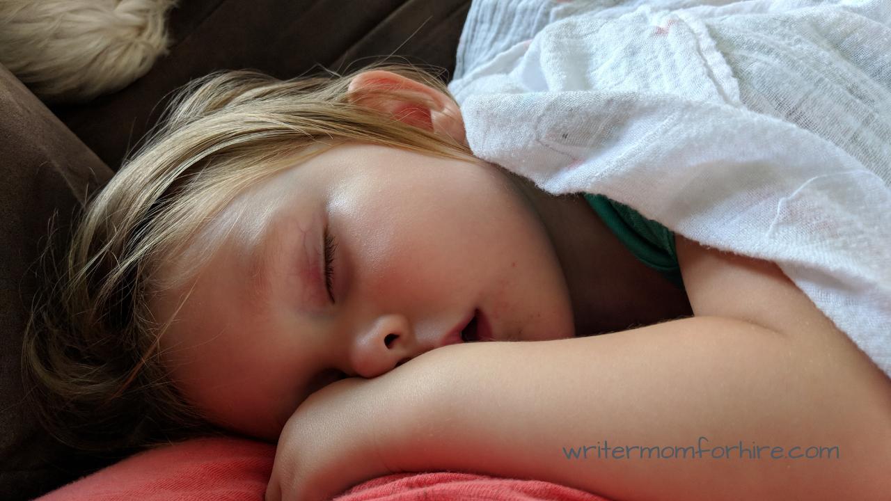 photo of toddler sleeping