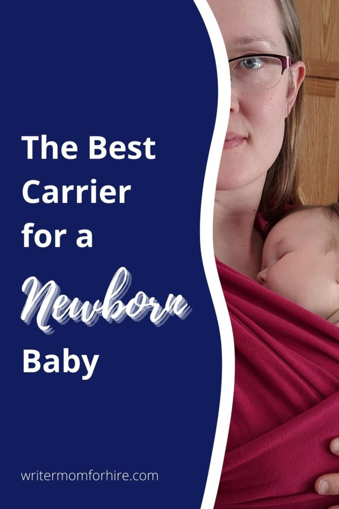 share this pin graphic if you want to share this info on which baby carrier is best for newborns