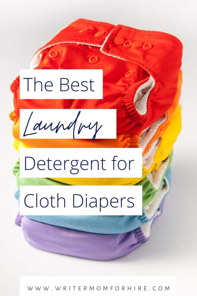 pin this image to share the article on the best natural laundry detergent for cloth diapers