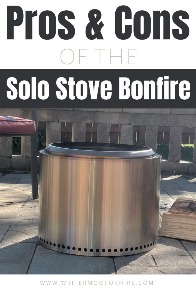 pin this image to share the solo stove bonfire pros and cons
