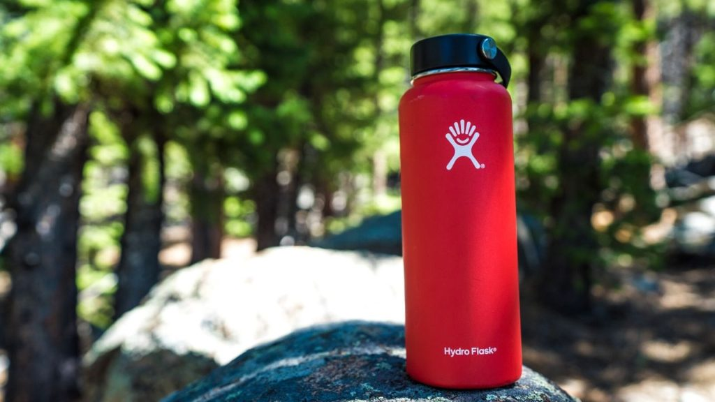 photo of a hydro flask water bottle