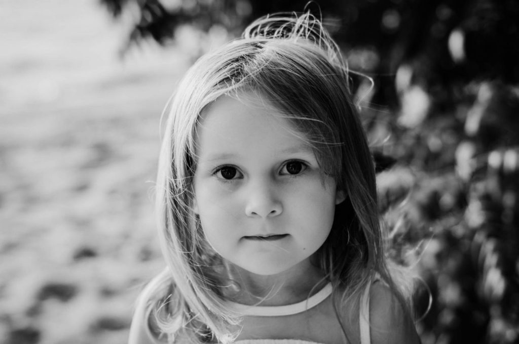 my daughter during our family photography session