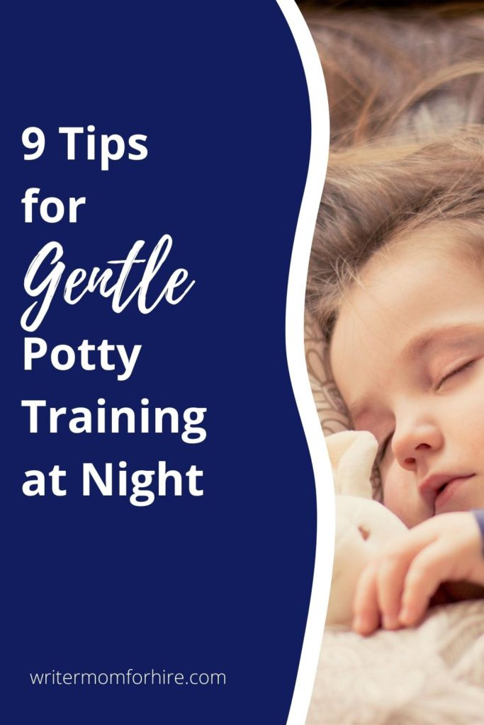 pin this image to share the article about potty training at night