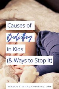 pin this image to share this info on bedwetting causes