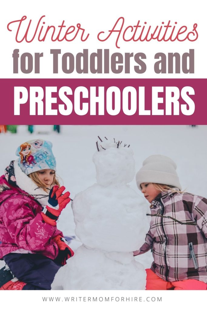 pin this image to share these fun activities for preschoolers about winter with others