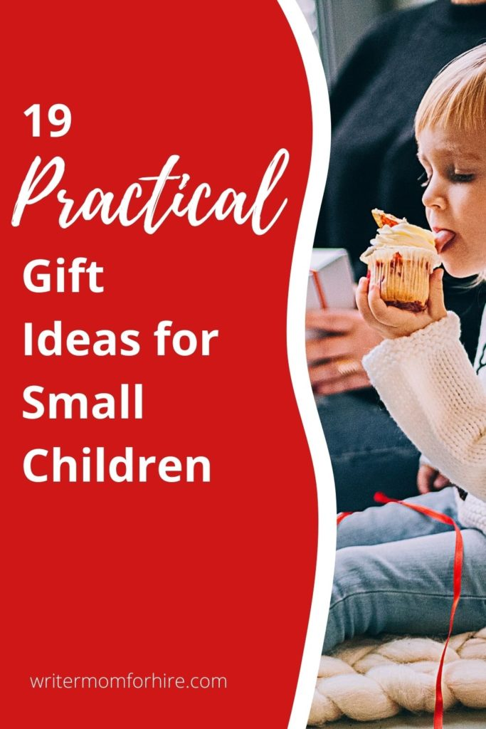 pin this image to share the list of non-toy gifts for toddlers
