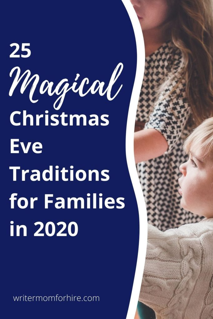 pin this graphic to share the magical family christmas eve traditions with others