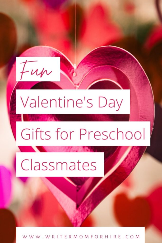 pin this image to share this article on fun valentine's day gifts for preschool classmates