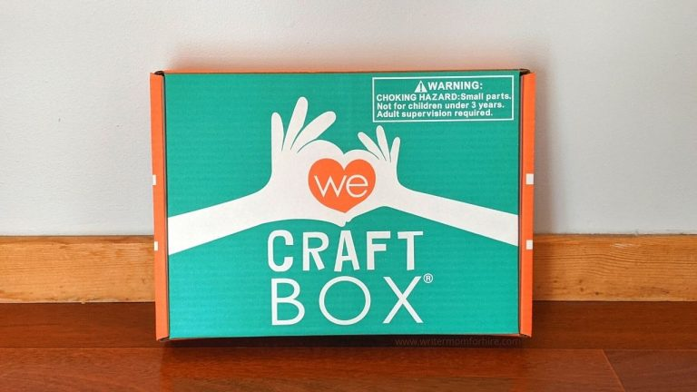 We Craft Box Review: A Themed Craft Subscription Box for Kids