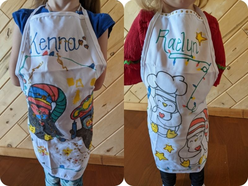 the finished aprons