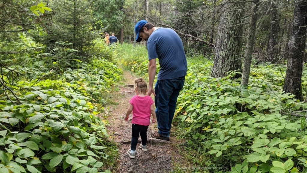 my husband and daughter on a fun family hike