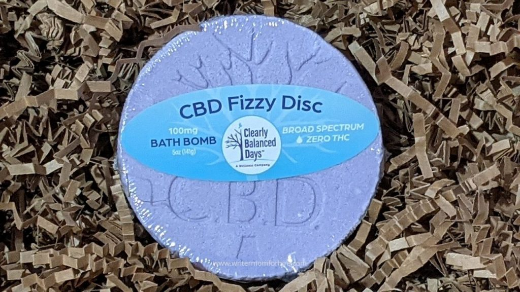 cbd fizzy disc bath bomb provided for the therabox reviews