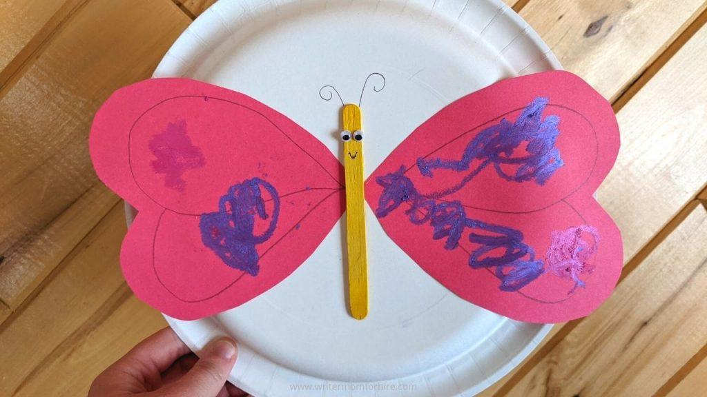 heart butterfly project