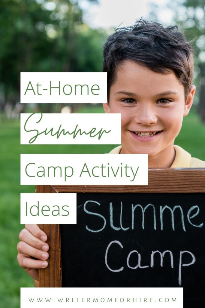 pin this image to share the article on Summer Camp Ideas at Home