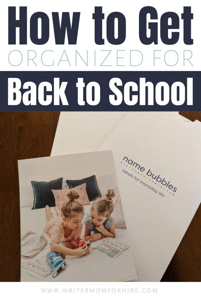 pin this image to share the info on How to Get Organized for Back to School